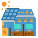 office, power, powered, solar, technology icon