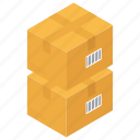 boxes parcels, packages, product box, shopping parcel icon