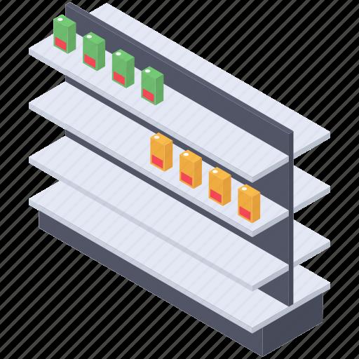 Product storage, products shelf, rack, store shelf, storehouse, warehouse shelf icon - Download on Iconfinder