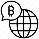 bitcoin network, bitcoin world, cryptocurrency, worldwide transaction icon