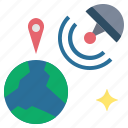 coordinates, gps, position, satellite, space