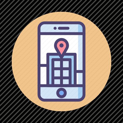 augmented, city, mobile, reality, virtual icon