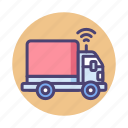 autonomous, lorry, truck icon