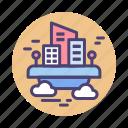 city, cityscape, sky city, town, township, urban, urbanscape icon