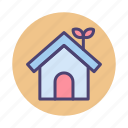 eco, ecology, greenhouse, home, house icon