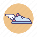 flying shoes, footwear, shoe, shoes, sneakers icon