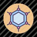 graphene, network, web icon