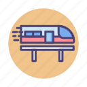 bullet train, hyperloop, metro, railway, train icon