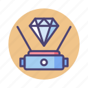 hologram, holographic, projection, projector icon