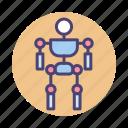 exoskeleton, human icon