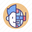 android, cyborg, humanoid, robot icon