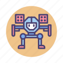 autobot, battle, machinery, military, missile mech, robot, transformer icon