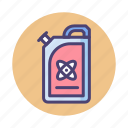fuel, gas, gasoline, nuclear fuel, oil, tank icon