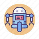 android, bot, droid, machine, robot icon