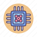 chip, computing, cpu, microchip, processor, quantum, quantum computing icon