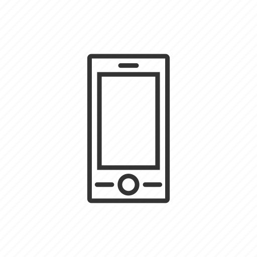 gadget, iphone, line, mobile, smartphone, technology, touch icon