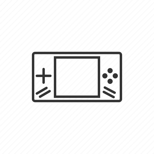device, gadget, games, line, tablet, technology icon