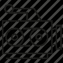 camera, electronic, record, vieod icon