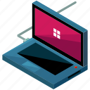 computer, device, gadget, laptop, technology icon