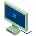 monitor, gadget, pc, computer, device, electronic icon
