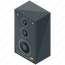 amplifier, device, electronic, gadget, multimedia, music, speaker icon