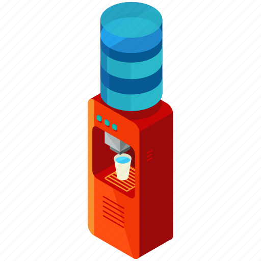 beverage, cooler, drink, gadget, office, water icon