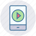 audio, device, media, mobile, music, play icon