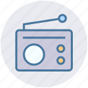 communication, device, media, radio, retro