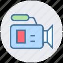 camcorder, camera, film, movie, record, video camera icon