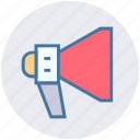 advertising, announcement, loudspeaker, marketing, megaphone, promotion icon