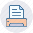 device, document, fex, gadget, paper, print, printer icon