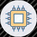 chip, chipset, computer, computer hardware, cpu, microchip, processor icon