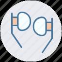 handfree, headset, multimedia, music, smartphone, song, sound icon
