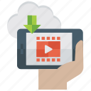 online video, video advertisement, video player, video tutorial, watching video icon