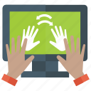 fingerprint, hand print, persons identification, scanning, security icon