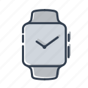 apple, clock, gadjet, watch icon