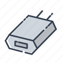 battery, iphone, socket icon