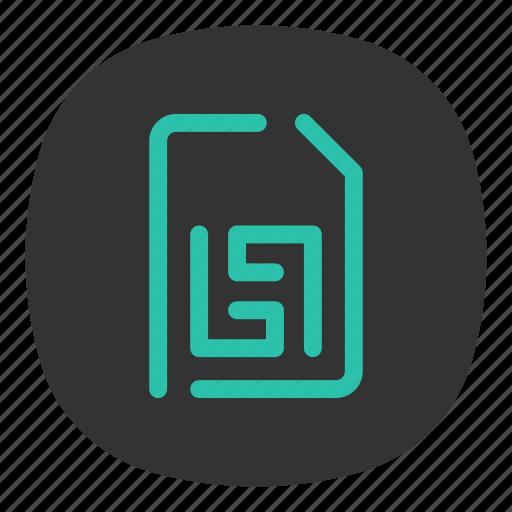 card, data, keep, memory, phone, sim, storage icon