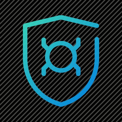 anti, badge, bug, detector, guard, security, virus icon