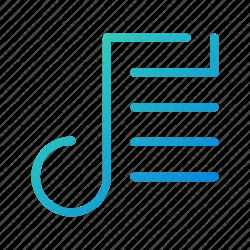 list, music, player, playlist, songs, tracks icon