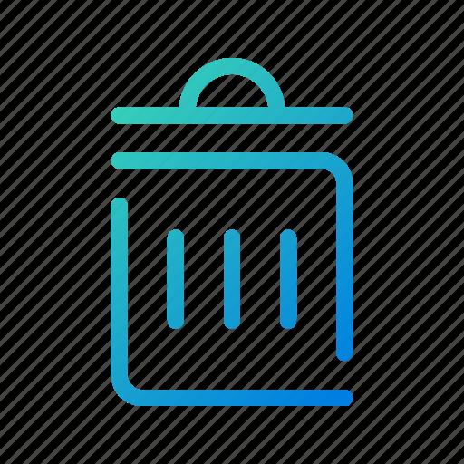 bin, delete, garbage, litter, recycle, remove, trash icon