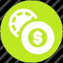 casino, change, dollar sign, gambling, game, house