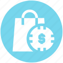 case with dollar sign, dollar bag, dollar case, hang bag, money bag icon
