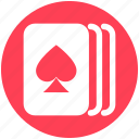 cards, casino, gambling, game, hearts, three cards icon