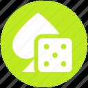 ace, casino, dice, gambling, game, poker icon