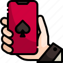 bet, casino, electronics, gambling, gaming, online, poker icon