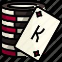 bet, casino, chip, coin, gambling, gaming, poker icon