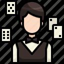 avatar, casino, croupier, gambling, job, man, profession icon