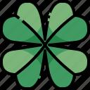 botanical, four, gaming, irish, leaf, luck, shamrock icon