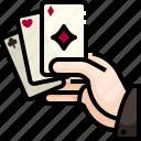 card, casino, diamonds, entertainment, game, gaming, poker icon